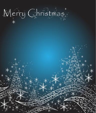 blue background  for Christmas Illustration