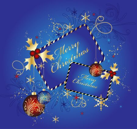 Blue Christmas background, vector illustration Stock Vector - 10352089