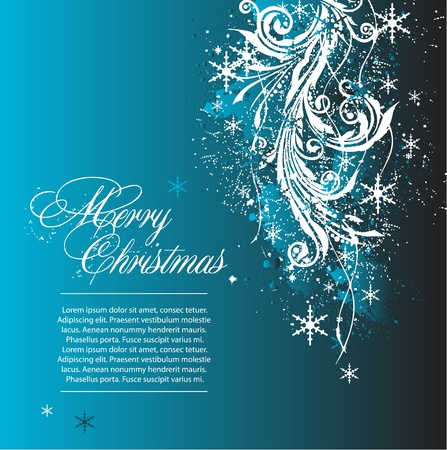 festive season: blue vector christmas background
