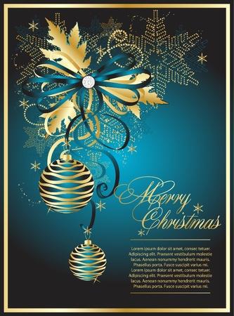 blue vector christmas background  Ilustração