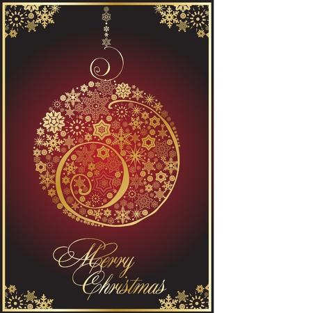 yule: Christmas art ball  Illustration
