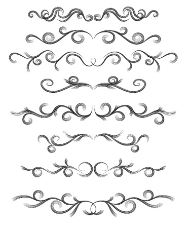 round corner: Vector set of lines for design