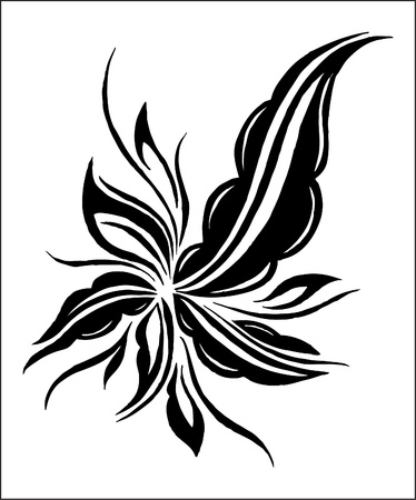 elegance flower Vector