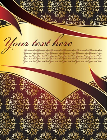 Gold background for design Vector