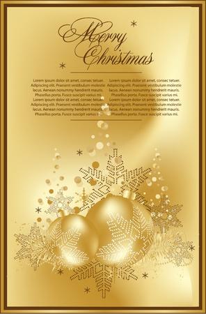 gold christmas balls Vector