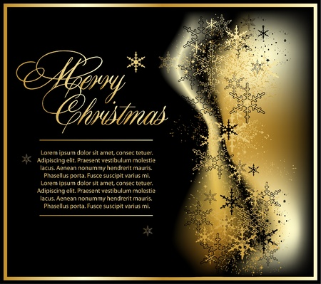 ornamented: gold christmas background