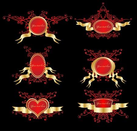 cartouche: Golden royal design element