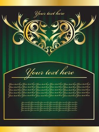 green hearts Vector