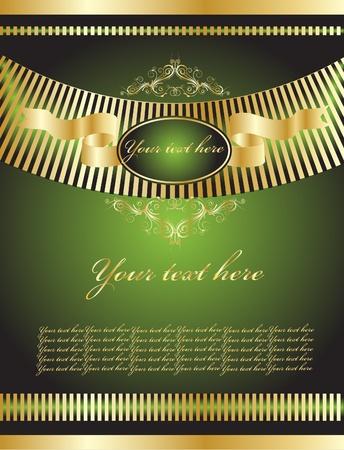 green vintage background Vector