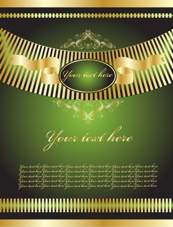 filigree background: green vintage background