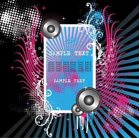 music dj: grunge musical Illustration