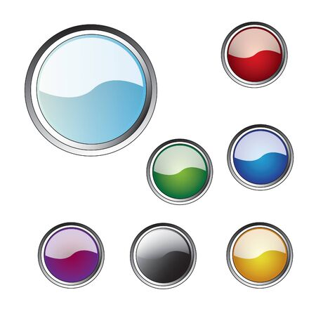 Multi-coloured buttons for a web Vector