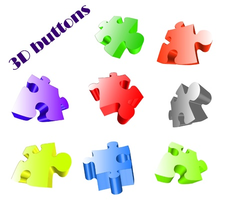 glossy buttons for sites Vector