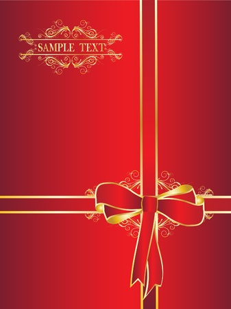 Red bow for a gift Vector