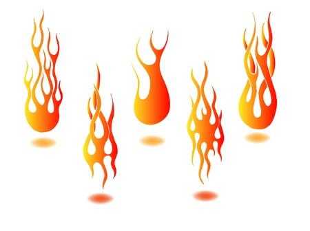 lángok: tüzet rak Illusztráció