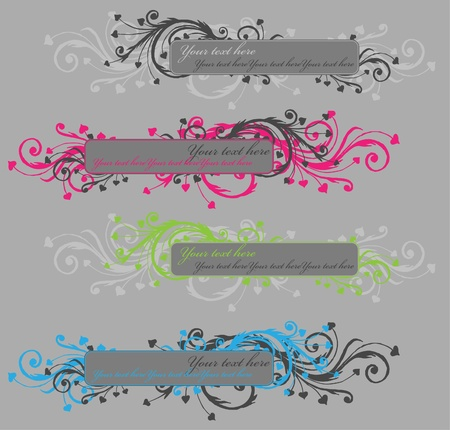 vertical banner: Set of banners