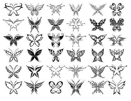 set of beauty butterfly (others in my portfolio) Stock Vector - 10353203
