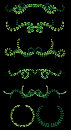 set of wreath Vector