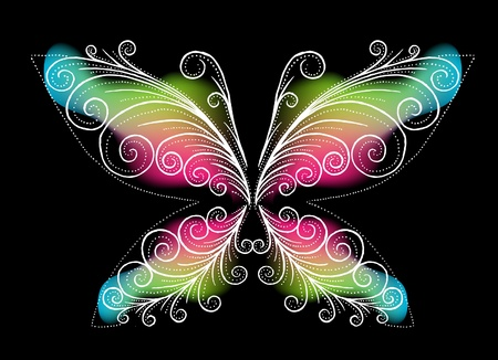 farfalla nera: La farfalla nera abstract Vettoriali