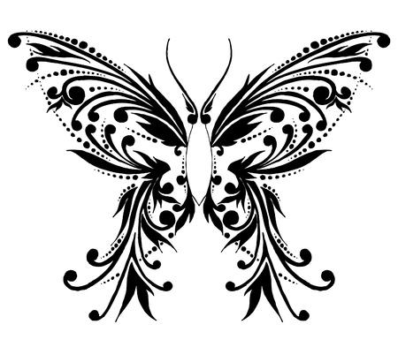papillon dessin: Le papillon abstrait