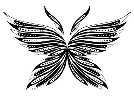 La mariposa abstracta Ilustración de vector