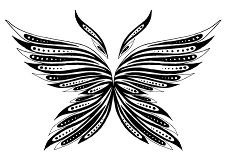 wings grunge: The abstract butterfly