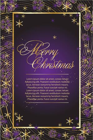 The violet abstract christmas frame Vector