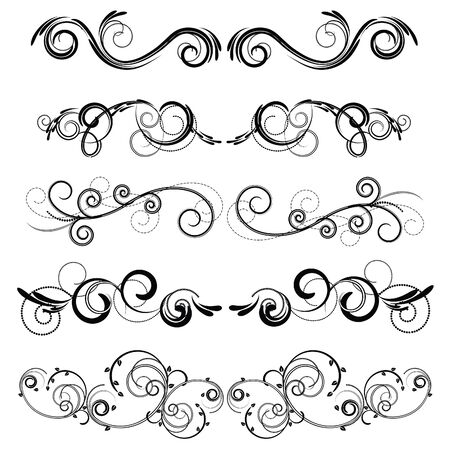 floral swirls:  crinkles for an ornament
