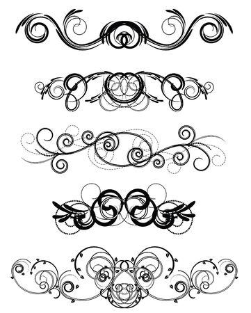 rococo:  flourishes for an ornament Illustration