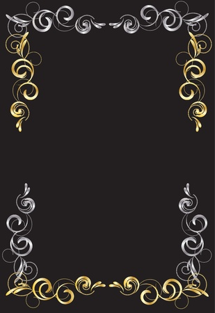 gold-silver a frame for an ornament Stock Vector - 10353347