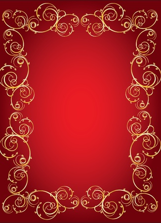 gothic revival style:  gold frame for an ornament