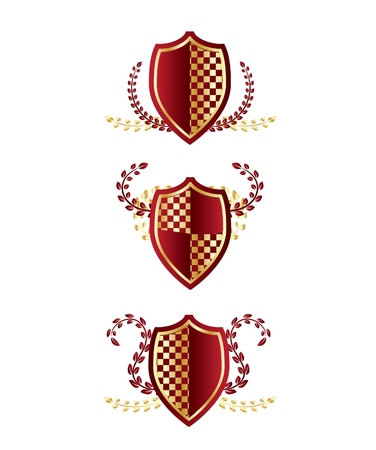 shield with wreaths Vector