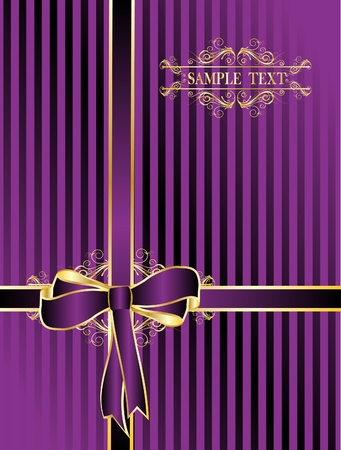 violet  bow for gifts Vector