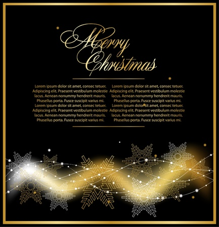 xmas gold beautiful  background Stock Vector - 10353476