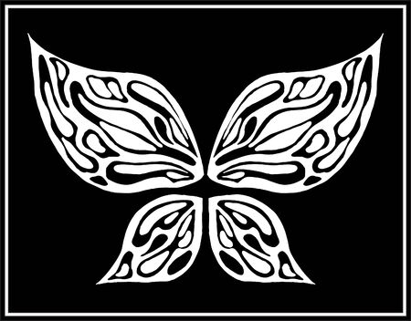 The abstract butterfly   Vector