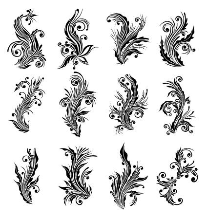 grecas: conjunto floral