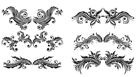 stencil art:  Vectorized Scroll Design. Elements can be ungrouped for easy editing.