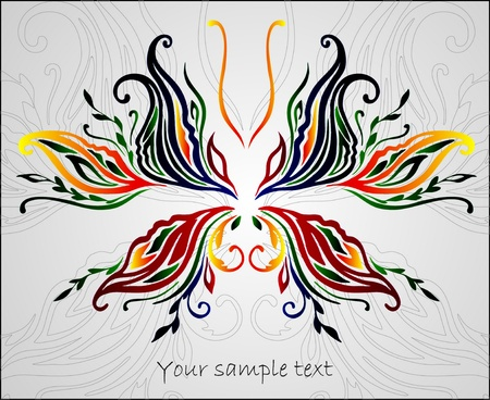 abstract beautiful butterfly Vector