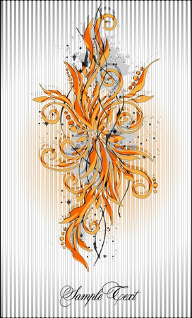 acanthus: abstract floral pattern Illustration