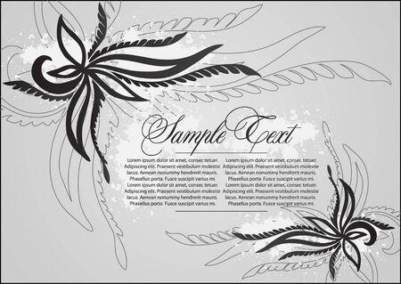 art  floral design element