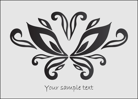art floral  butterfly Vector