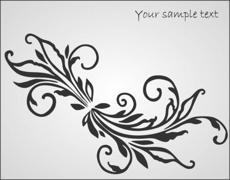 art floral design element Stock Vector - 10452313