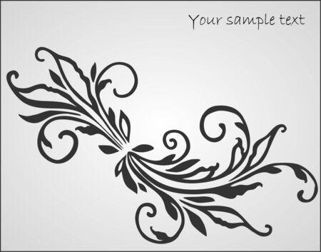 decoration elements: art floral design element