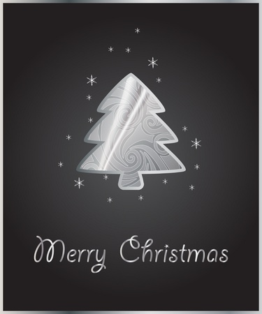background with abstract stylized xmas tree Vector