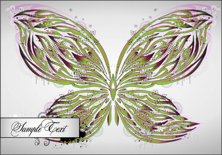 beautiful abstract background with butterfly Vector