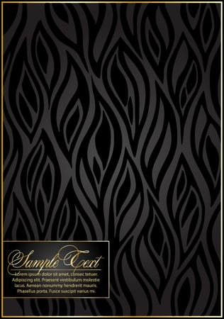 brown wallpaper: Black Seamless floral Pattern.