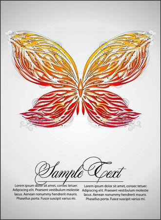 butterfly vector background Vector