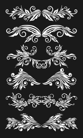 venetian victorian: decorative floral elements