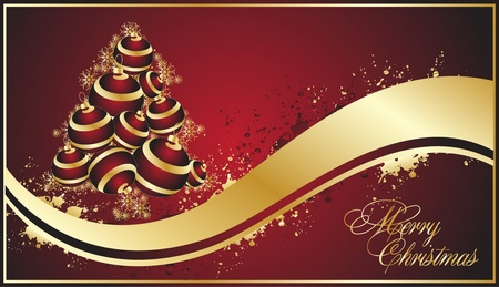 special occasion: decorative red  christmas background  Illustration
