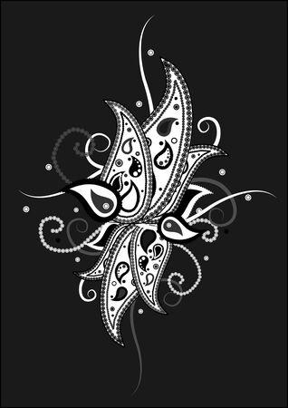 magnificence:     elegant paisley